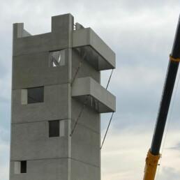 Feuerwache Illertissen Schlauchturm Ansicht