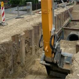 Wasserleitungsbau Bagger Dobler Bau