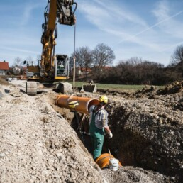 Wasserleitungsbau Kran Dobler Bau